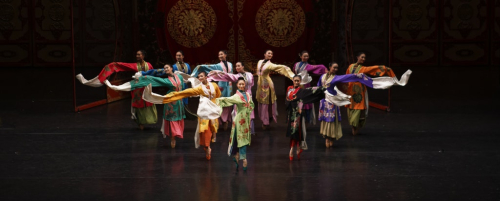 Ballet dancers from The National Ballet of China.